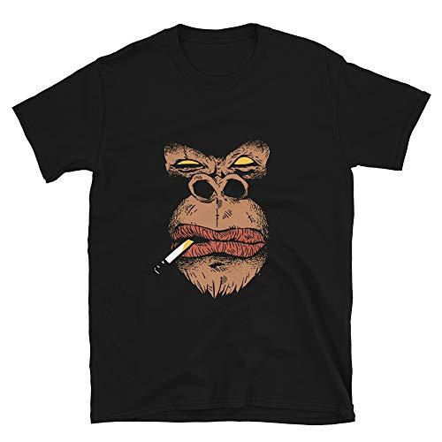Angry Gorilla Mobster Look Shirt, Gorilla Cigarette Black