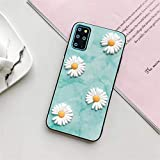 Shockproof Transparent Protective Phone Case Daisy Flower Phone Cover Fit For Samsung Galaxy S20 plus ultra s10 s9 s8 lite 5G Slim Silicone Shockproof Protective Back Case With built-in screen protect