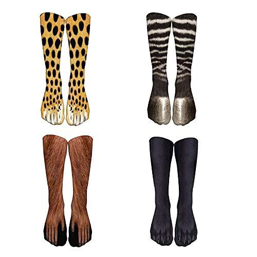 Jintong 4 Pares De Nuevos Calcetines De Pata De Animal Con