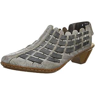 Rieker 46778-40, Women's Sling Back Pumps, Grey (Grey), 5 UK (38 EU):Seks-irani
