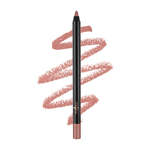 Mellow Cosmetics Gel Lip Pencil - Matte Liner for Women - Long-Lasting & No Bleeding - Organic, Natural, Vegan, Cruelty-Free - Paraben-Free Makeup - Rose - Rose