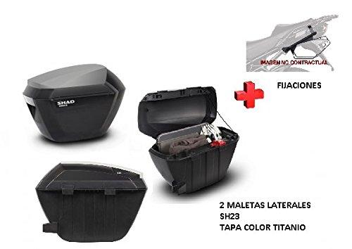 KIT SHAD fijacion+ maletas laterales tapa c. titanio SH23 HONDA CB500X (13-17)