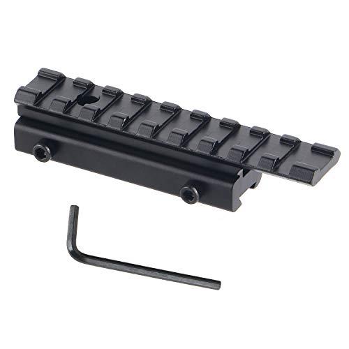 FOCUHUNTER Riel de Perfil Bajo Táctico de 11mm to 20 mm Weaver/Picatinny Adaptador de Base de Montaje en Riel