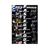 Fast And Furious Serie Starring Signatur-Leinwand-Poster