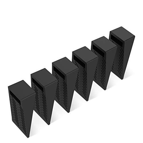 Wimaha - Fermaporta a cuneo, in gomma resistente, antiscivolo, altezza regolabile, su piastrelle, moquette, pavimento in legno e laminato, per interni bagno, cucina, porta camera dei bambini (6 pezzi)