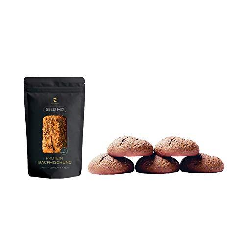 Seed Mix Mezcla para hornear (Paquete la familia-900g) 20% proteico | 4g. cereales | Sin gluten | Para Paleo, Keto, dieta baja en carbohidratos y desarrollo muscular | También adecuado para diabétic