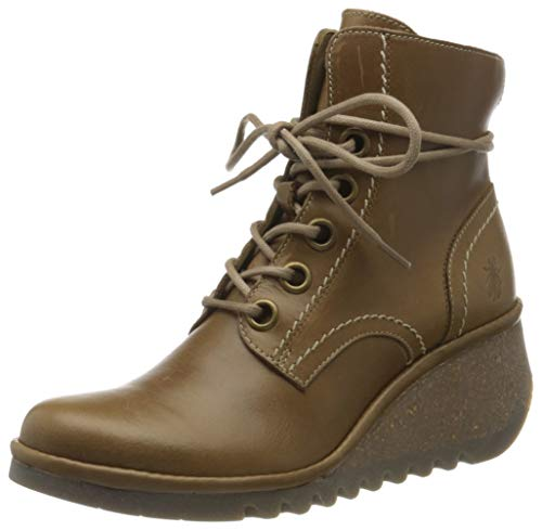 FLY London Nure195fly, Botas Militar para Mujer, Marrón (Camel 007), 38 EU