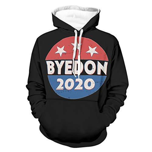 Jahrgang BYEDON 2020 Wahl Druck Herren Pullover mit Kapuze Tribal Lange Ärmel...