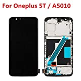 joliwow Tested OEM for Oneplus 5T A5010 LCD Display Touch Screen Digitizer Assembly Replacement with Frame for Oneplus Five 5T 6.01 inch (Black, for Oneplus 5T A5010)