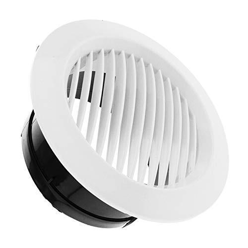 SZBLYY Rejilla ventilacion Rejilla de ventilación de Aire Circular Interior Ventilación de Salida Ducto Tubo Tapa Cap 75mm / 100mm / 125mm / 150mm / 200mm para baño Cocina, Blanco (Color : 125mm)