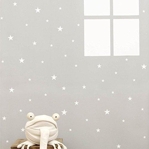 Bluelans® 39 étoiles étoiles Stickers muraux pour Chambre d'enfant, Blanc