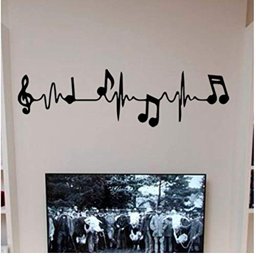 Piano Notes Muursticker Vinyl Art Murals Kinderen Slaapkamer Muurstickers Home Decor Behang 58x16cm
