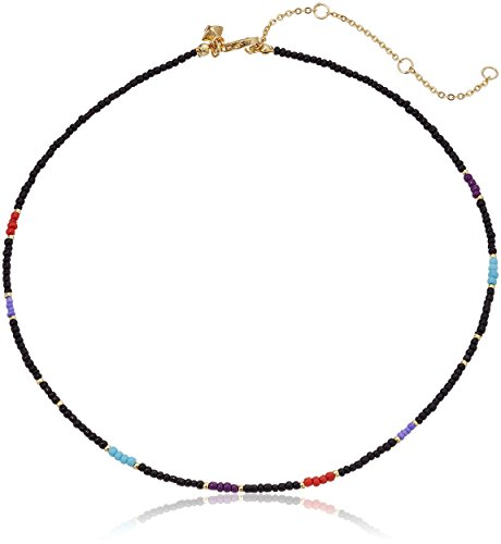 Rebecca Minkoff Seed Bead Black Choker Necklace, 14
