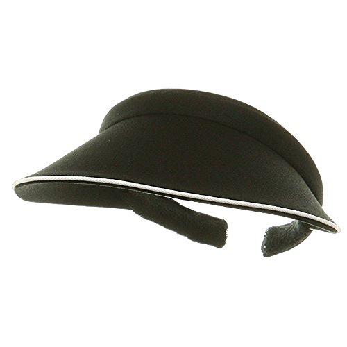 Piping Clip On Visor-Black