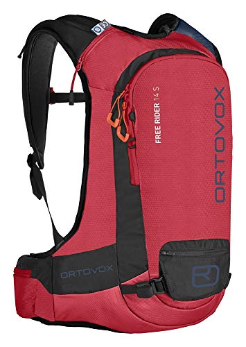 Ortovox Free Rider 14 S, Unisex-Erwachsene Rucksack, Rot (Hot Coral), 24x36x45 cm (W x H L)
