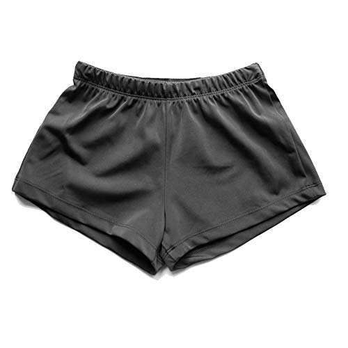 NEW DANCE Boy's Basic Gymnastics Shorts Dance Shorts for Ballet Practice Athletic(Black,XLC)