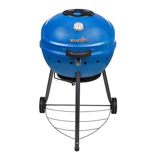 Char-Broil 21302145 Kettleman TRU-Infrared Charcoal Kettle Grill, Blue
