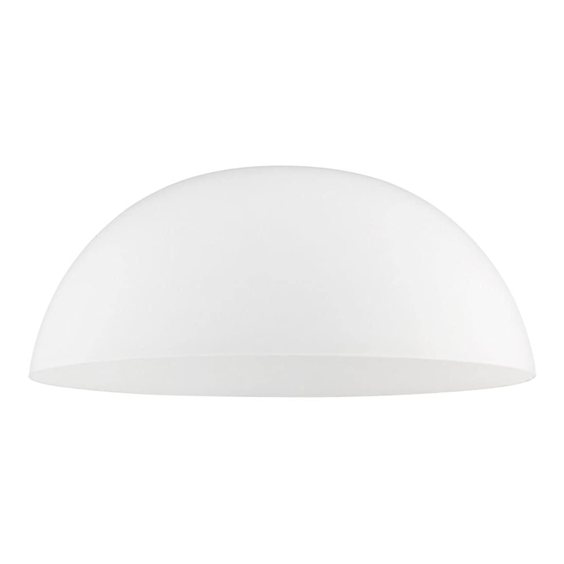 Satin White Glass Shade 13-Inch Wide 1.63-Fitter