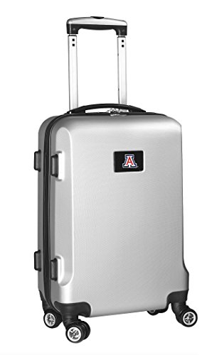 New Denco NCAA Arizona Wildcats Carry-On Hardcase Luggage Spinner, Silver