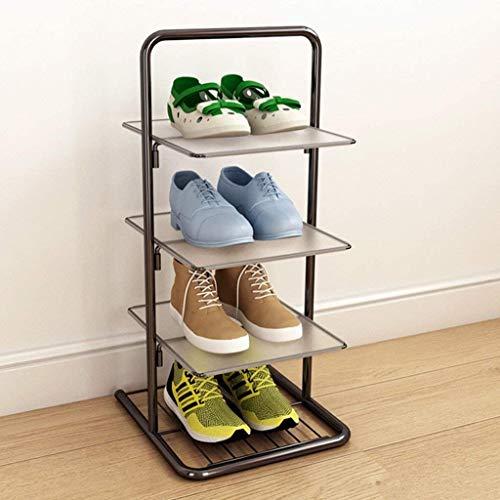 Zapatero Utilidad de malla metálica de zapatos de almacenamiento en rack estante organizador de zapatos for el armario dormitorio y Puerta de entrada Bota de Bronce soporte con patas de zapatos Estant