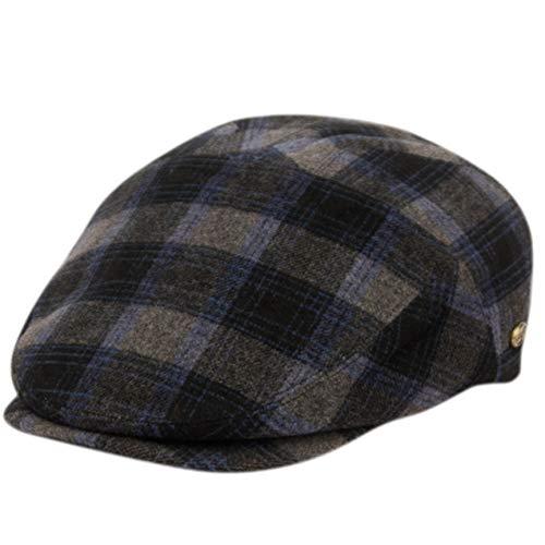 Epoch hats Wool Blend Hollywood Men's Graham Paneled Flat Ivy Cap (S/M, IV3008BLUE)