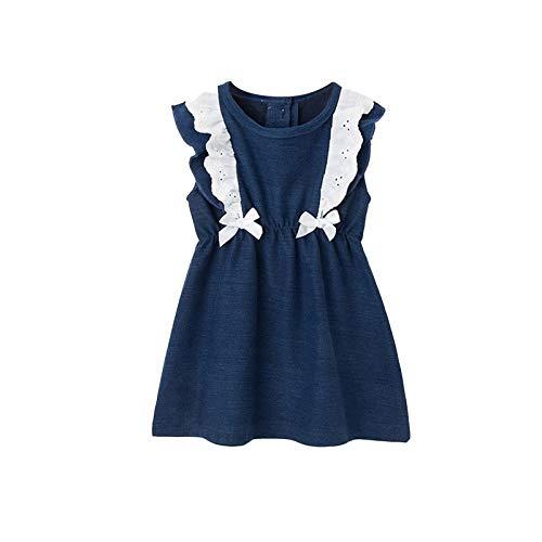Eurobuy Vestido de bebé sin mangas, vestido de uso diario, vestido de color sólido