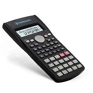 Mathmatic - Calculadora científica 82ms | Pantalla de 2 líneas | 240 funciones | STAT-Data Editor | Calculadora portátil para matemáticas, enseñanza, oficina.