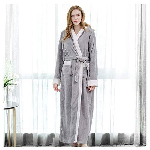 NBVCX Home Life Bademantel Frauen Männer Unisex Kapuzenmantel Mikrofaser Soft Snug Gemütliches Fleece Robby All Seasons Comfortable (Farbe: B Größe: XL)