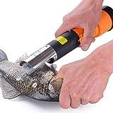 MHUI Electric Rechargeable Fish Skin Scaler Descaler, Powerful Electric Fish Scaler Fishing Scalers Clean Remover Cleaner Descaler Scraper Seafood Tool Waterproof
