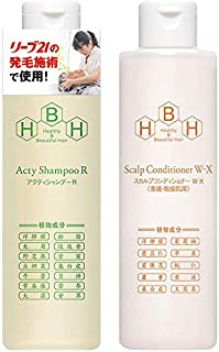 Special Hair Development Sleeve 21 Active Shampoo R & Scalp Conditioner (W-X) (For Normal & Dry Skin), Set of Hair Growth ...