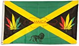 SCAMODA Party-, Freizeit- und Motiv-Flaggen aus wetterfestem Material, Outdoor-Fahne (Jamaika-Marihuana) 150x90cm