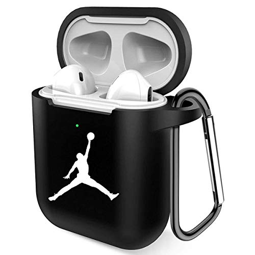 AirPod Case, Protective Shockproof Silicone Cover Compatible with AirPods 2 and 1 (Black)