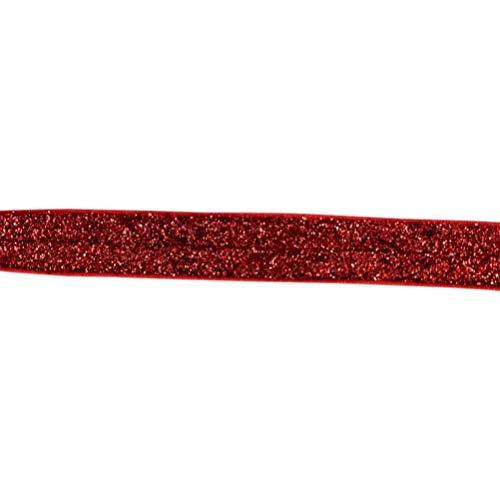 Milisten Ruban Élastique Extensible Paillettes Sangles Rubans Repliables pour Jarretières de Mariage Bandeaux Cheveux Arcs Bouquets Décoration en Tiss