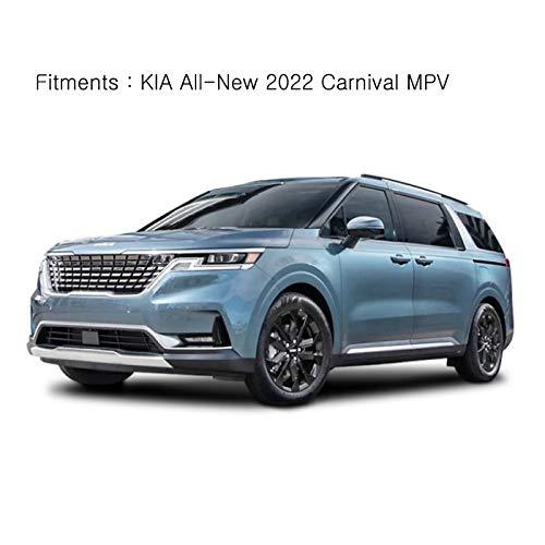AUTOCLOVER Smoke Tinted Window Visors Side Wind Deflectors Rain Guards 4p for KIA All New 2022 Carnival MPV