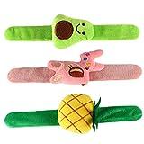 UKCOCO Correa de Reloj Pulseras a presión de Felpa 3pcs Ciervo Diseño de piña Muñequera Patting Hand Band