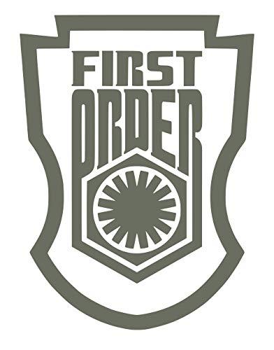 UR Impressions Gry First Order Stormtrooper Badge Calcomanía de vinilo para coches, camiones, SUV, furgonetas, paredes, ventanas, portátil, gris, 5.5 x 4.4 pulgadas, URI283-G