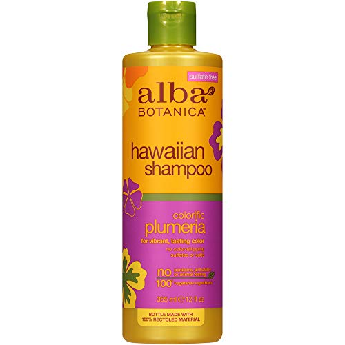 Alba Botanica Natural Hawaiian Shampoo Colorific Plumeria 350ml by Alba Botanica