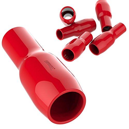 AUPROTEC 25x Cappucci Isolanti per Connettori 120 mm² - 150 mm² rosso Camicetta isolante V120 Guaina in PVC per Capicorda nudi di Potenza ad Occhiello Forchetta Puntale Spina per Cavi Fili Elettrici