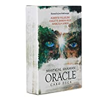 Mystical Shaman Oracle 完全英語版のタロットデッキとEGuideブックEinstructionカードゲーム運命告知ゲームセット運命予測カードゲーム