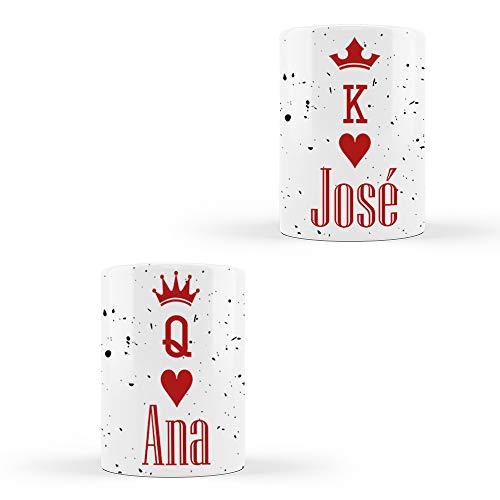 PROMO SHOP Tazas Personalizadas para Parejas Doble (con Fecha) Diseño King/Queen · Tazas Personalizadas a Todo Color para ti y tu Pareja Persona Importante en tu Vida