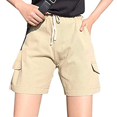 RAINED-Women Summer Mid Waist Shorts Loose Casual Workwear Pockets Shorts Pants Bowknot Harem Shorts