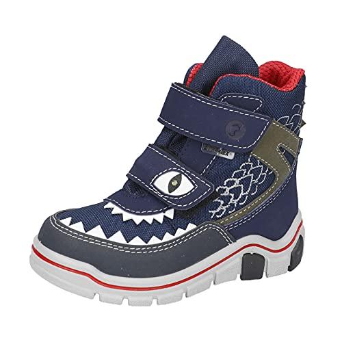 RICOSTA Jungen Boots LUGA, Weite: Weit (WMS),Sympatex,Blinklicht,Outdoor-Kinderschuhe,gefüttert,Kids,Nautic/Ozean (174),30 EU / 11.5 Child UK