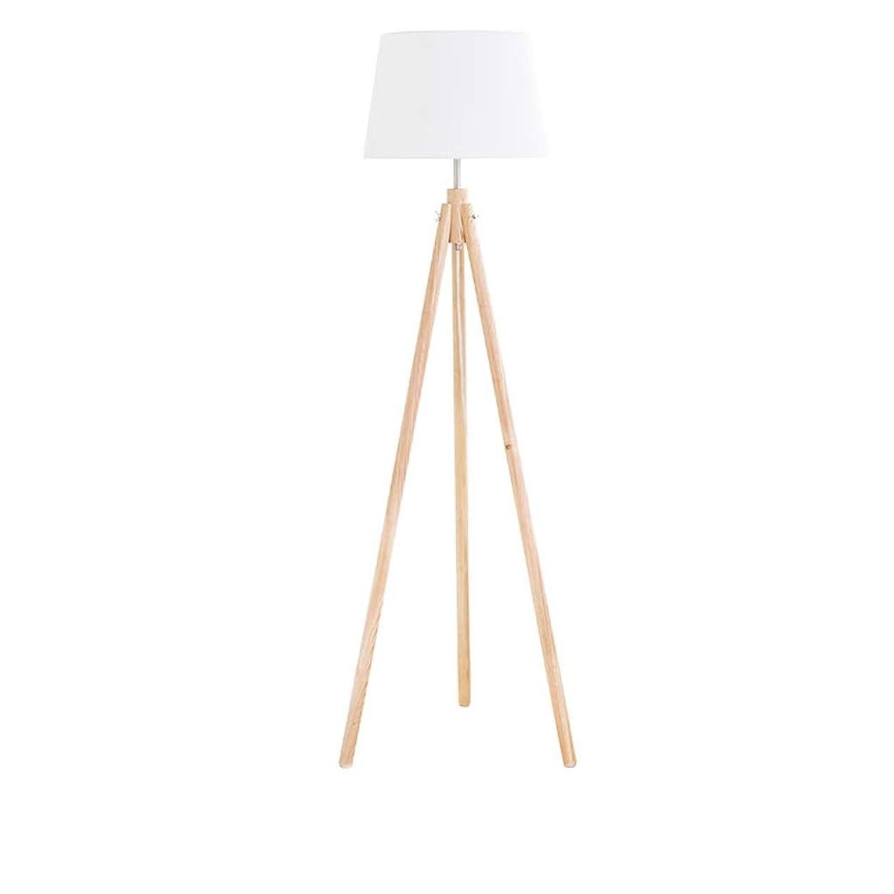 呼吸するしょっぱい複数フロアスタンド 木製三脚フロアランプ、E27ランプベース付き亜麻色のランプシェード、リビングルーム、ベッドルーム、書斎、オフィス用のモダンなデザインの読書フロアライトランプH158cm ホーム屋内照明フロアスタンド?ランプ (Color : White, サイズ : 43*38*158cm)
