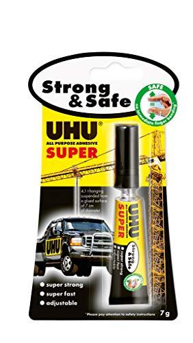 UHU Alleskleber Super Glue nachkorrigierbar super stark schnell geruchlos in Tube 7 g