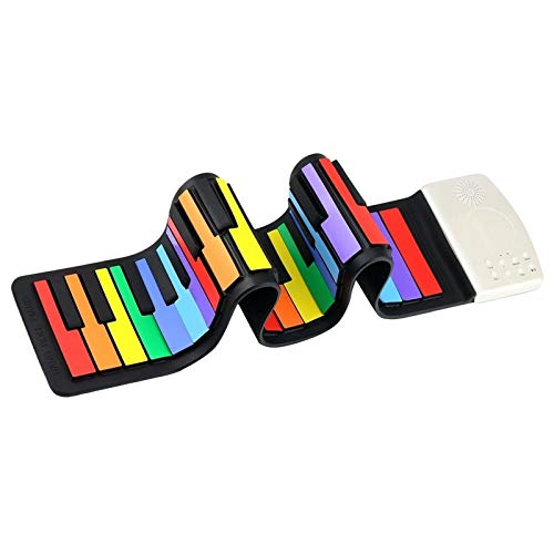 LINDANIG Color de 49 Teclas estándar Flexible Niños del Teclado de...