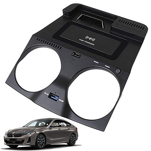 Cargador Inalámbrico Coche para BMW 5 Series G30 G31 6 Series GT 2018 2019 2020 Consola Central Accesorios Panel 15W Carga Rápida Auto Teléfono Cargador Almohadilla per iPhone Samsung HUAWEI