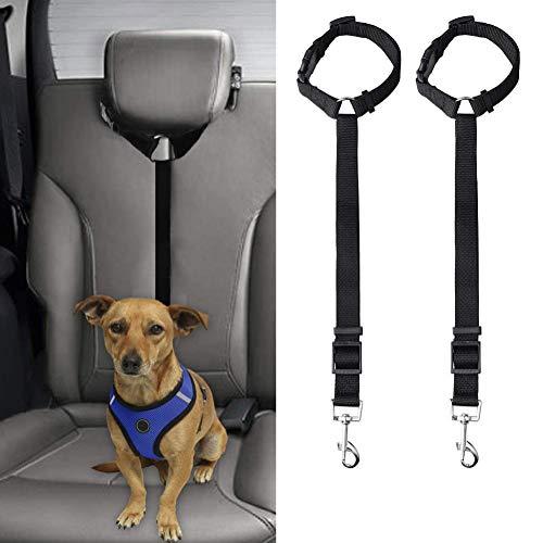 【2本セット】 ペットシートベルト 犬猫 シートベルト 車専用リード 安全ベルト 飛び出し防止 簡単装着 長さ調整可能 小型犬 中型犬 ドライブ/アウトドア