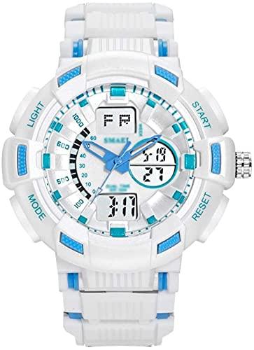 Reloj Digital para Hombre Relojes Deportivos al Aire Libre para Hombres / Mujeres 50 m Natación Correa de plástico Impermeable 24 Horas Reloj electrónico Inteligente con indicación-Segundo