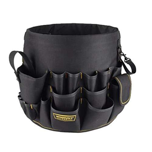 LOVIVER Werkzeugtasche Transporttasche mit Handgriff Halterungen Eimer Caddy Organizer, Pocket-In & Out Eimer Taschen