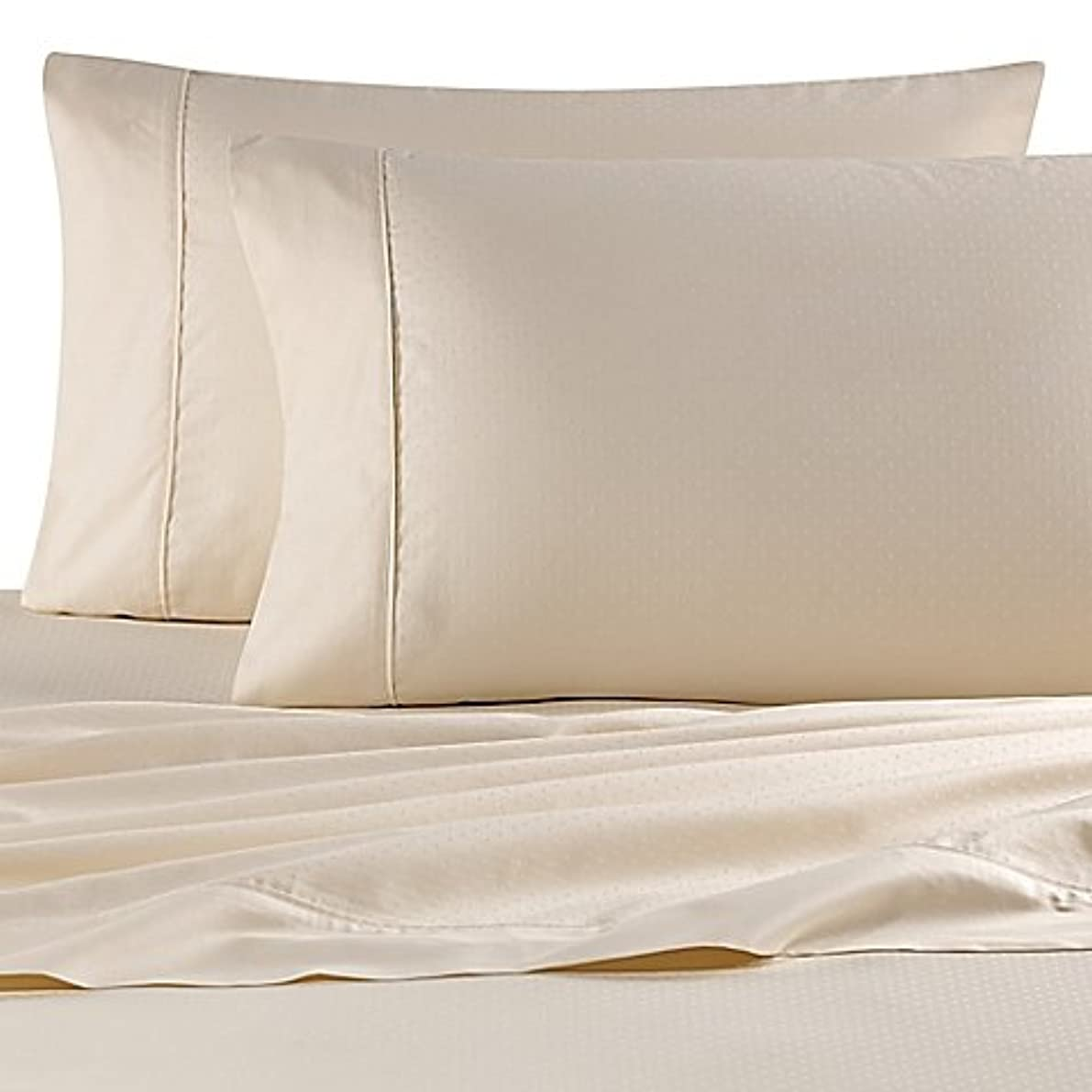 Wamsutta 620 Thread Count Cotton King Pillowcases in Ivory Dot (Set of 2)